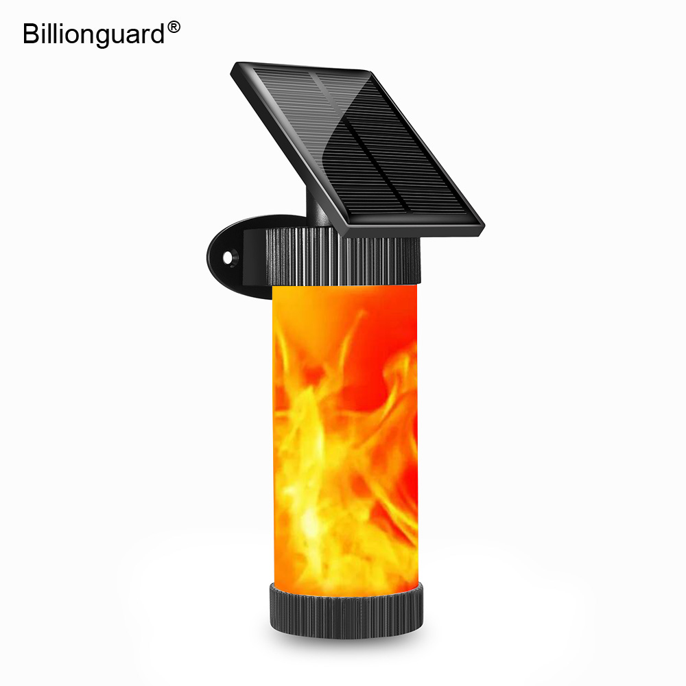 LED Solar Wall Lights Flickering Fire Flame Lamps IP65 Waterproof Solar Powered Outdoor Landscap Lighting For Garden Decor Led