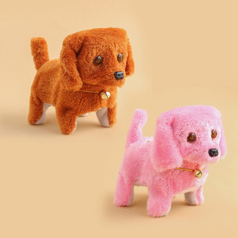 Electric Dog Plush Toy Soft Plush Walking Dog Funny Simulation Moving Appease Baby Toys For Children