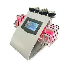 6 in 1 40k Ultrasonic liposuction Cavitation 8 Pads LLLT lipo Laser Slimming Machine Vacuum RF Body