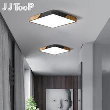 سقف ليد حديث ضوء رقيقة جدا سطح شنت تركيبة إضاءة غرفة نوم قاعة خشبية المطبخ مصباح ديكور المنزل التحكم عن بعد