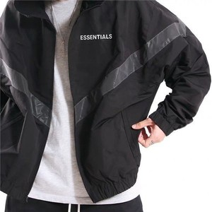 Men's Waterproof Jacket Fashion High Street Night Reflective Print Essentials Nylon Double Layer Top Hip Hop Woman Jacket coat