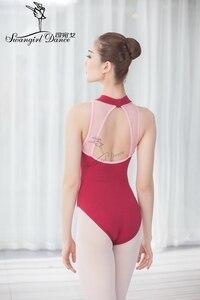 Image 5 - Nero Danza per Adulti Body per Le Donne Del Cotone di Lycra Sexy Body Balletto di Danza Costumi per Le Ragazze Tuta Balletto ClothesCS0713