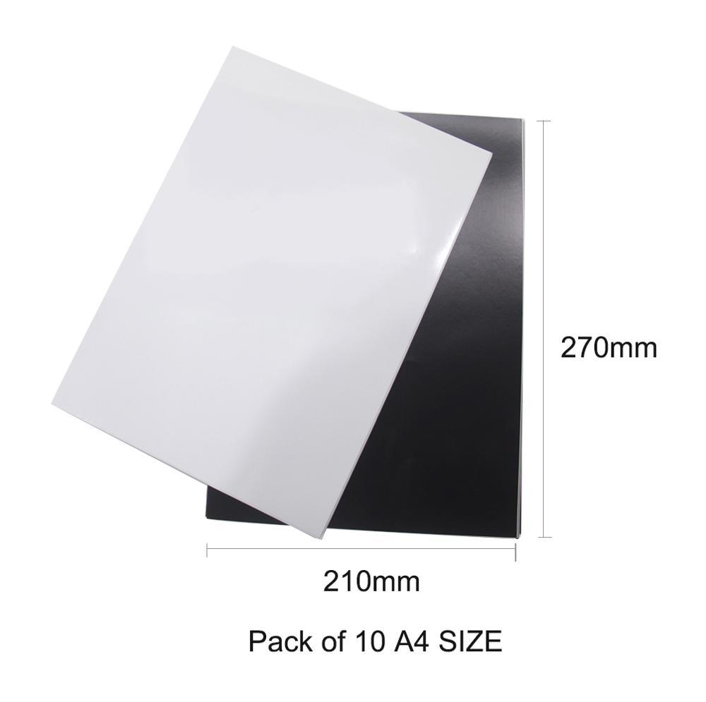 Купить с кэшбэком 5pcs/lot A4 Magnetic Photo Paper Printable Sheet Fridge Magnets Sticker Inkjet Magnet Picture Paper Matte Finish Printer Paper