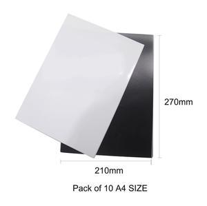 Image 5 - 5 шт./лот A4 Магнитная фотобумага печатный лист магниты на холодильник наклейка струйный магнит фотобумага матовая отделка бумага для принтера