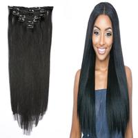 12 26Hair Brazilian Remy Straight Hair Clip In Human Hair Extensions Natural Color 7 Pieces/Set Full Head Sets Ship Free