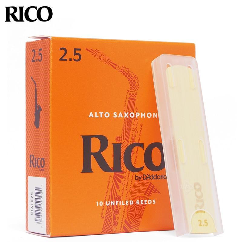 Eua original d'addario rico caixa laranja juncos eb alto bb soprano tenor barione saxofone baixo clarinete clássico
