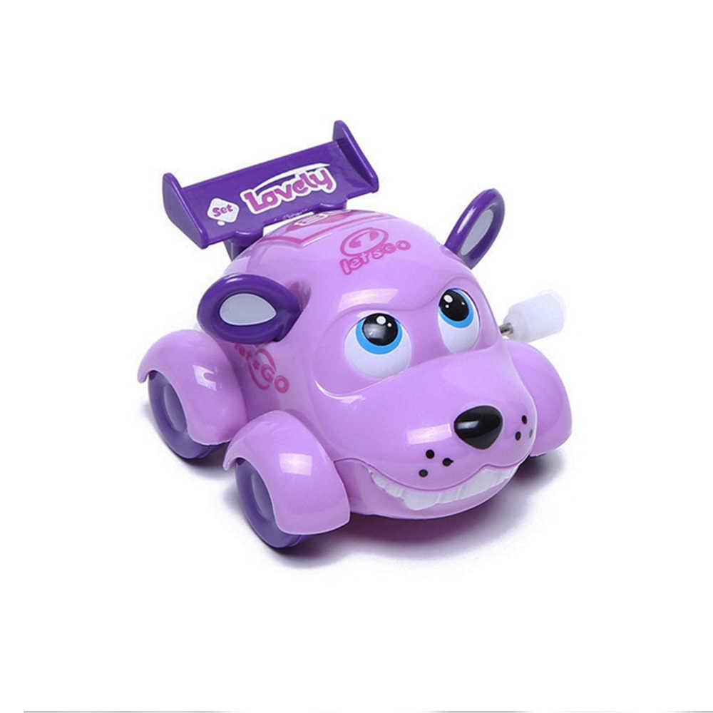 Милая собака мультфильм бегущая машина заводная игрушка Заводной классический ребенок Малыш Дети Игрушка-случайный цвет автомобиль игрушка для детей