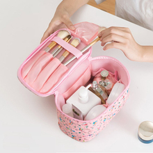 New Women's Floral Cosmetic Bag High Capacity Travel Storage Makeup Bag Portable Washing Bag Toiletries Organizer Cases new women s floral cosmetic bag high capacity travel storage makeup bag portable washing bag toiletries organizer cases