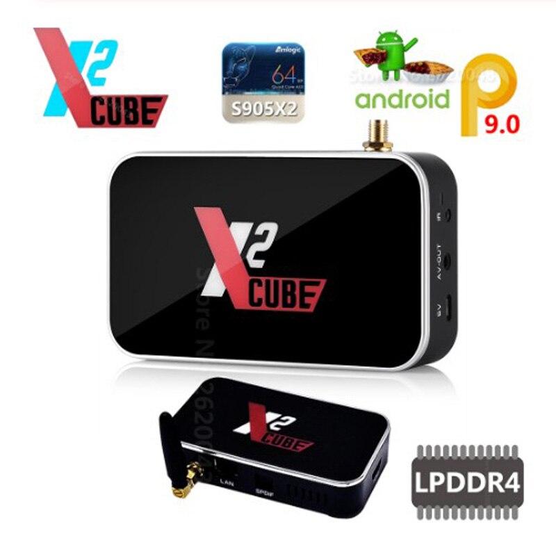 X2 CUBO 2.4G/5G WiFi 1000M LAN Smart TV Android Box Amlogic S905X2 2GB DDR4 16GB eMMC Android 9.0 Set Top Box 4K HD Media Player X2 PRO 4GB 32GB