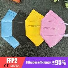 Respirateur ffp2,masque de protection nk95 ff2, anti-virus avec valve kn95 pm2.5, filtre anti-poussière facial lavable et réutilisable