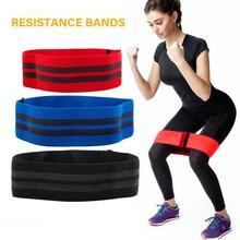 Hip-Neck Elastic Band Squat Resistance Band Yoga Fitness Pull Ring Ring Elastic Ring Tension Band Fitness Equipments cheap Unisex Legs Pull Rope Pull band stretch belt yoga rope Latex silk Polyester cotton [S] red [M] blue [L] black Resistance Bands