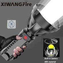 Iluminação ao ar livre super forte lanterna tocha bateria display usb recarregável led de longo alcance ultra-brilhante holofote portátil