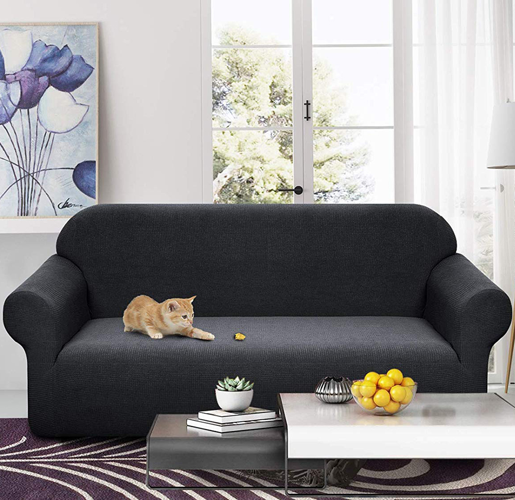 MEIJUNER Waterproof Sofa Cover in Solid Color with High Stretchable Slipcover for Dining Room 2