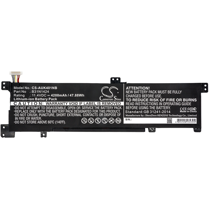 Cameron Sino 4200mAh Batterie pour Asus A400U A401L K401 K401LB K401LB5010 K401LB5200 K401LB5500, B31N1424