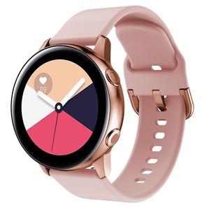 20 мм ремешок для часов Samsung Galaxy watch 46 мм 42 мм Active2 Active1 Gear S3 frontier Sports силиконовый ремешок nato