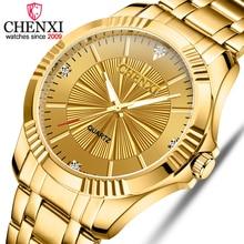 CHENXI Brand Classic Delicate Rhinestone Couple Lover Watche