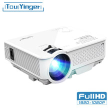 Touyinger m4 mini projetor led suporte completo hd vídeo beamer para cinema em casa teatro pico filme projetores media player portatil mini+projetor