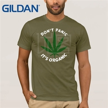 Nerd Tee Shirt 2019 Weed Dont Panic Its Organic Cotton T For Men Latest Hip Unique T-Shirt Cloth
