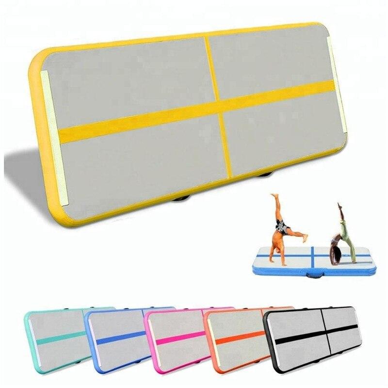 Inflatable Gymnastics Tumbling Mat Air Track Floor Mats with Pump 10m Yoga Judo Knickboxing Aquatic Professionally Soft Pads