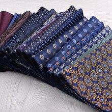 ใหม่แฟชั่นผ้าเช็ดหน้า Bule สีเขียวดอกไม้ที่มีสีสัน Paisley Pocker สแควร์สูทธุรกิจงานแต่งงาน Leisure Hanky อุปกรณ์เสริม