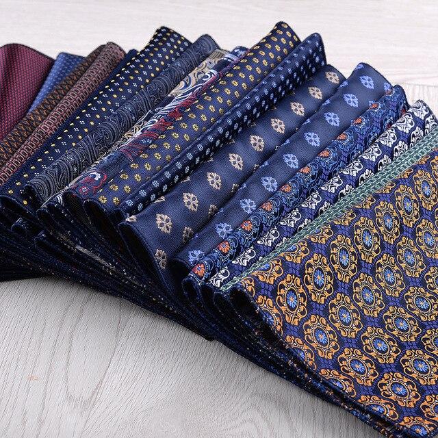 Mouchoir coloré vert, bleu, costume carré Floral, poches, pour affaires, fête, mariage et loisirs, accessoires à main, nouvelle mode