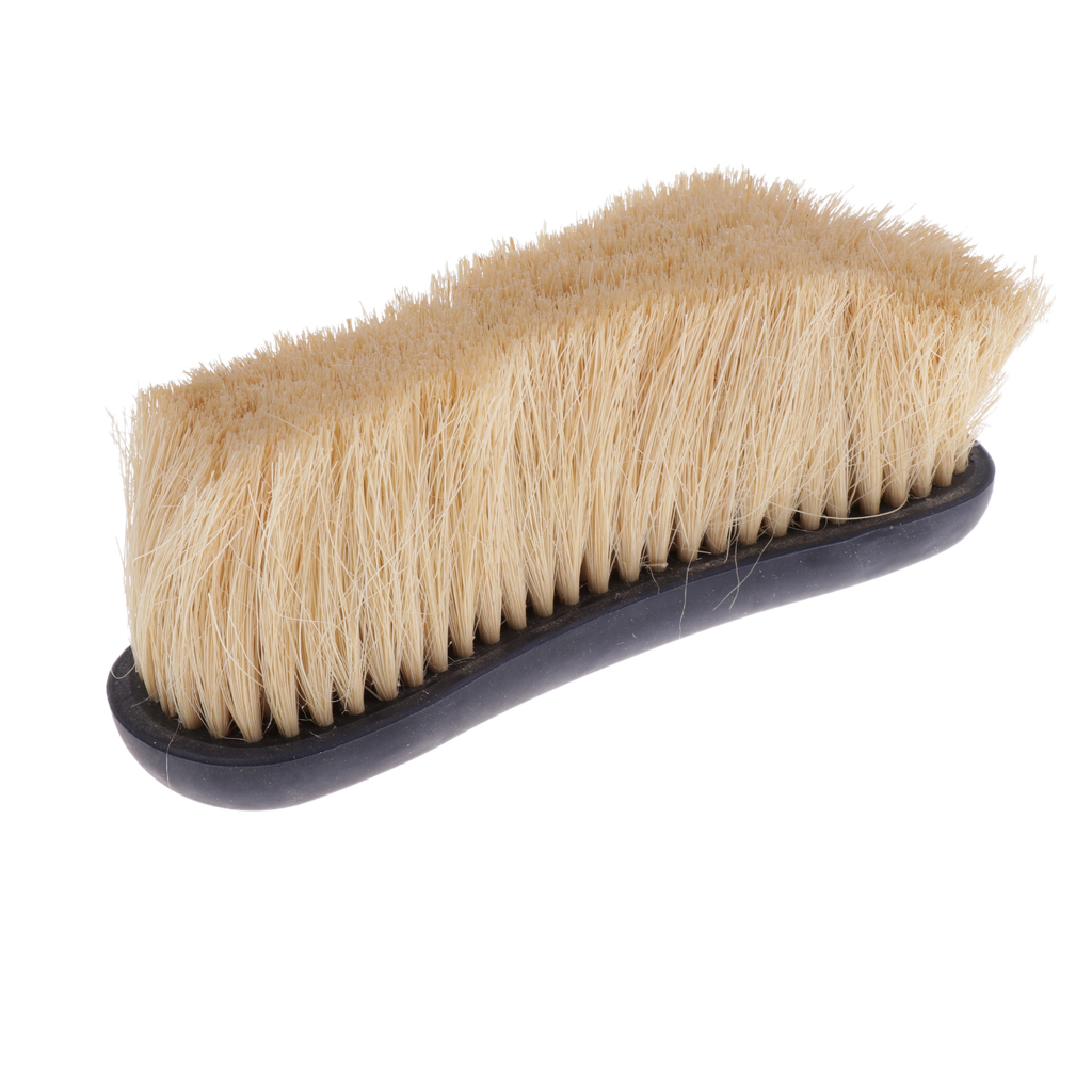 Horse Care Pony Finishing Brush Body Mane Tail Comb Equestrian Grooming Tool Black