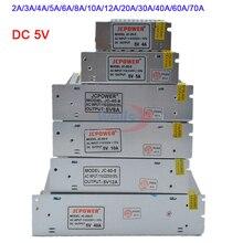 лучшая цена Wholesale DC 5V Lighting Transformer 2A/3A/4A/5A/6A/8A/10A/12A/20A/30A/40A/60A/70A led strip Switching Power Supply led driver