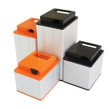 リチウム電池ケース高品質 18650 バッテリーアルミボックス abs プラスチック蓋リチウムイオン電池用アセンブリ
