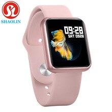 Mężczyzna kobieta inteligentny zegarek wodoodporny Smartwatch tętno Monitor ciśnienia krwi zespół dla Apple Watch iPhone Android zegarek sportowy