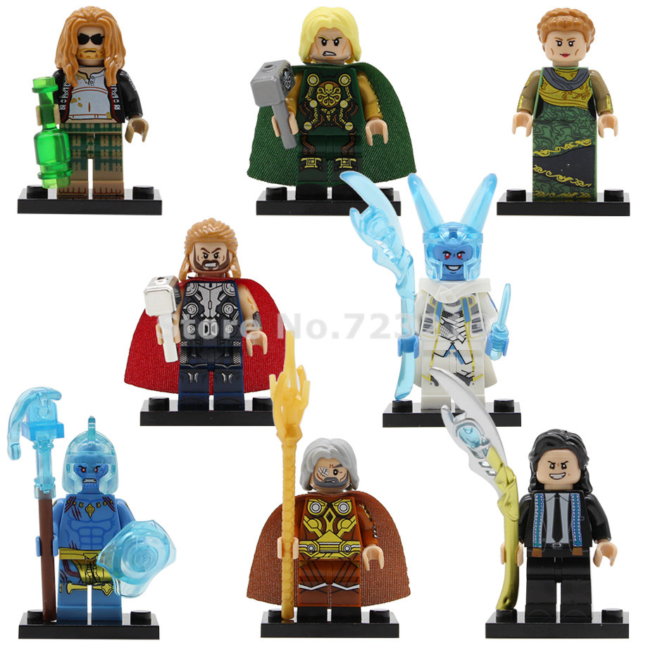Marvel Thor Super Heroes Figure Frigga Odin Laufey Loki Endgame Building Blocks Brick Model Toys Legoing X0269