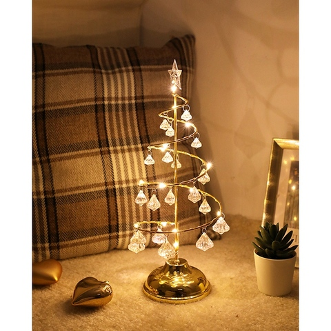 da arvore de natal quarto lampada mesa