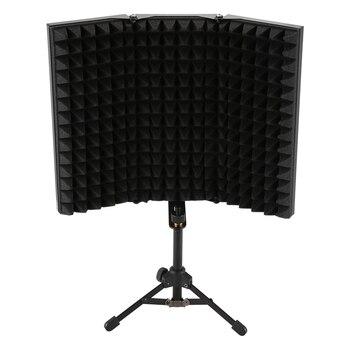 Aufnahme Sound Absorber Mikrofon Isolation Schild Anti-Lärm 3-Falten Design High-Dichte Schaum Panel, für Aufnahme Ausrüstung S