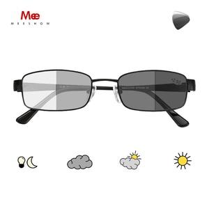 Image 1 - Meeshow fotokromik okuma gözlüğü anti UV400 erkekler paslanmaz çelik gözlükleri diyoptri okuma gözlüğü + 1.5 + 2.5 WT0340