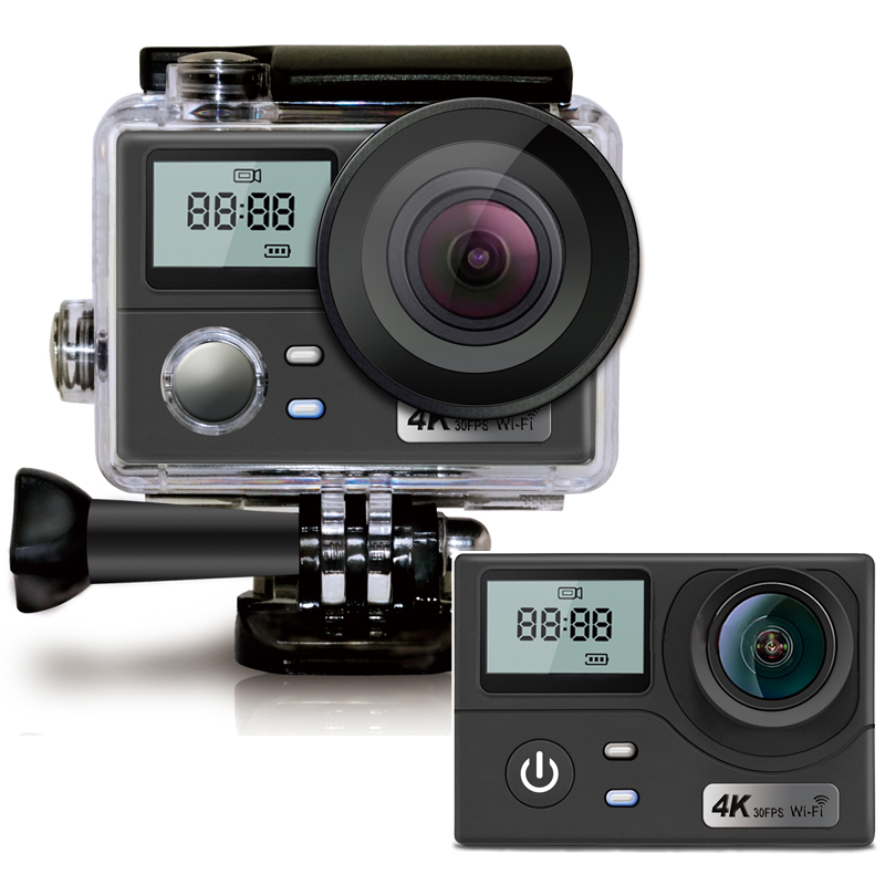 Wifi Action Camera 4K Ultra HD Dual Screen 16MP Sport Camera Go Waterproof Pro 170D Sports