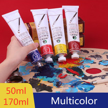 50/170ML Acrylic Paint Nail Art Oil Painting Water Resistant Paint for Fabric Drawing Tools For Kids DIY Silk Screen Printing 18 colors 12ml acrylic paint set color nail glass art painting paint for fabric drawing tools