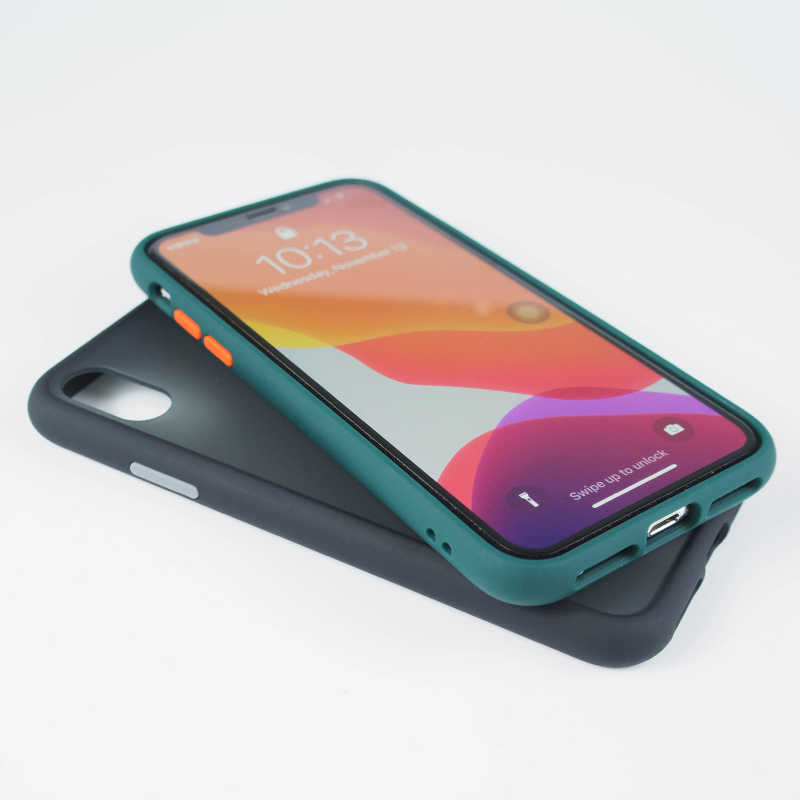SUAIOCE Shockproof Armor Case untuk iPhone 11 Pro X XS Max XR Case Transparan Kembali Cover UNTUK iPhone 7 8 plus Mewah Silicone Case