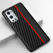 For Oneplus 9 Pro 8 8T Nord Back Cover For Original Carbon Fiber Texture Leather Stripe Phone Bumper For One plus 9 Pro Case
