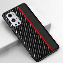 สำหรับ Oneplus 9 Pro 8 8T Nord ด้านหลังเดิมสำหรับคาร์บอนไฟเบอร์ Texture Stripe โทรศัพท์กันชนสำหรับ one Plus 9 Pro กรณี