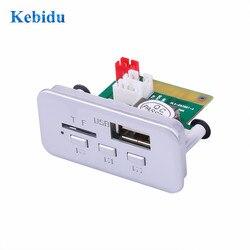 KEBIDUMP3 WMA Decodificador Bordo 5V 12V Módulo de Áudio Sem Fio Receptor FM MP3 Jogador Rádio FM TF USB 3.5mm AUX Para acessórios Do Carro