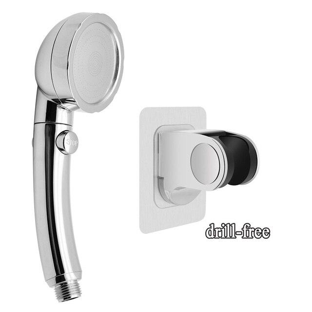 Cabezal de ducha de mano con interruptor de pausa de encendido//apagado Cabezal de ducha de ahorro de agua ajustable en /ángulo de 3 configuraciones