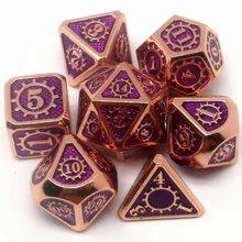 Новейшие высококлассные многогранные кубики металлические кости 7 шт./компл. игральные кости DND набор dados rpg dobbelstenen dados rol d4 d6 d8 d10 d12 d20