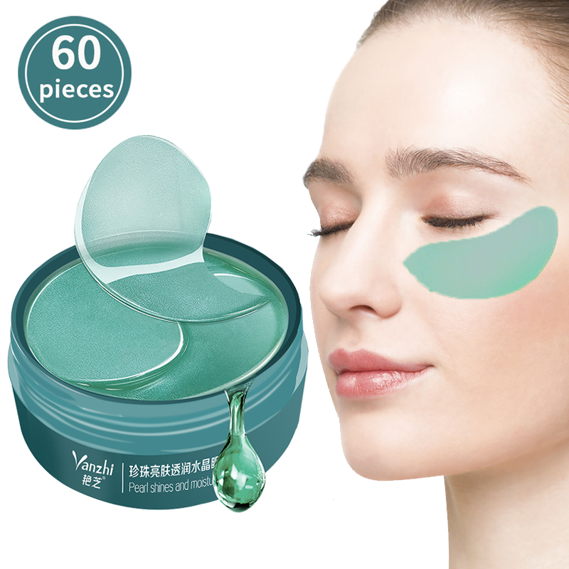 60 Pieces Pearl Collagen Eye Mask Natural Moisturizing Eye Patches Remove Dark Circles Anti Aging Bag Eye Wrinkle Skin Care
