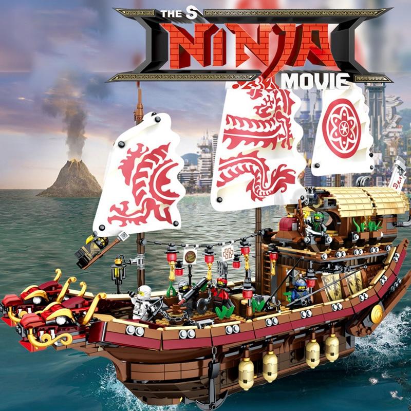 Mobile Base New  Fate Reward Boat Set Destiny's Bounty Building Blocks Bricks Compatible LegoingLYs 70618 Toys For Birthday Gift