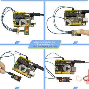Image 4 - Новинка 2020! Keyestudio новый сенсорный стартовый комплект V2.0 37 в 1 коробка для Arduino UNO стартовый комплект