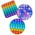 Пуш-ап поп-пузырь сенсорная игрушка для аутистов потребности мягкие игрушки для снятия стресса для взрослых и детей смешные анти-стресс PopIt ...