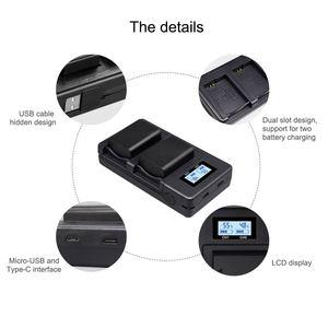 Image 3 - PALO caméra NP FW50 NPFW50 chargeur de batterie numérique LCD intelligent double fente usb Qucik charge pour batterie Sony NP FW50 dédiée