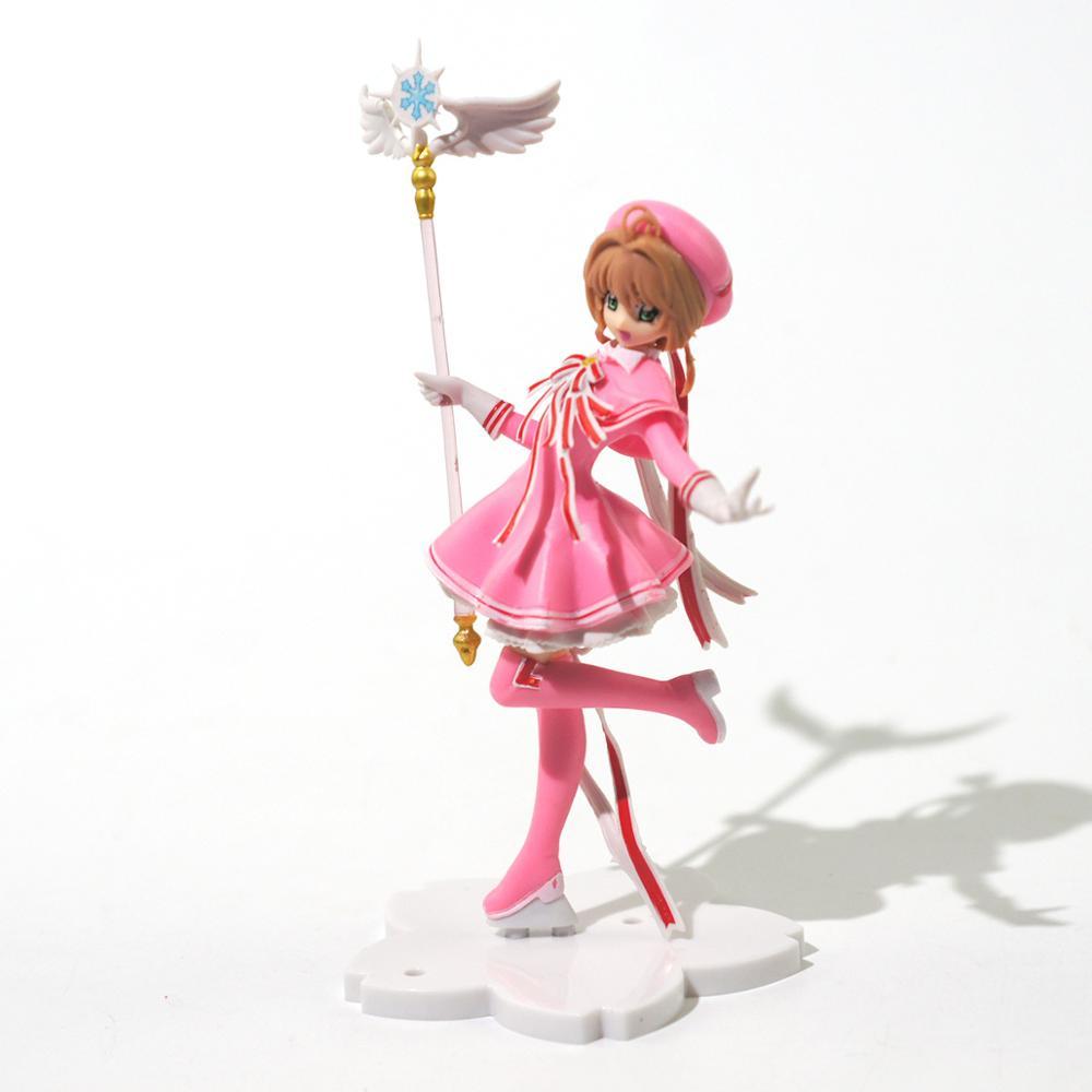 Аниме розовая карточка Captor SAKURA экшн-Фигурки Игрушки для девочек ПВХ фигурка модель автомобиля украшения торта игрушки подарок