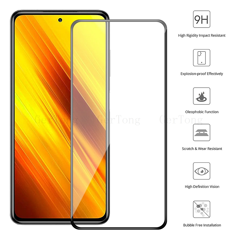 2-in-1 Camera Tempered Glass For Xiaomi Poco X3 Explosion-proof Glass For Xiaomi PocoPhone X3 Screen Protector protective Glass