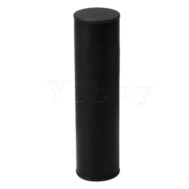 Yibuy Stainless Steel 190mm Pillar Sand Shake Rhythm Musical Accessory Black