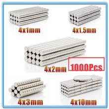 цена 1000Pcs Mini Small N35 Round Magnet 4x1 4x1.5 4x2 4x3 4x10 mm Neodymium Magnet Permanent NdFeB Super Strong Powerful Magnets 4*2 онлайн в 2017 году